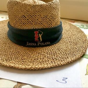 d65842ce imperial. Straw boater beach hat with Logo